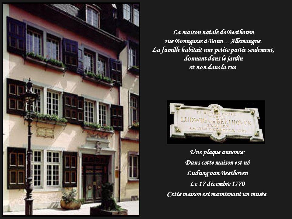 La maison natale de Beethoven rue Bonngasse à Bonn…Allemangne.