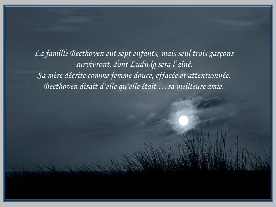 La famille Beethoven eut sept enfants, mais seul trois garçons survivront, dont Ludwig sera laîné.