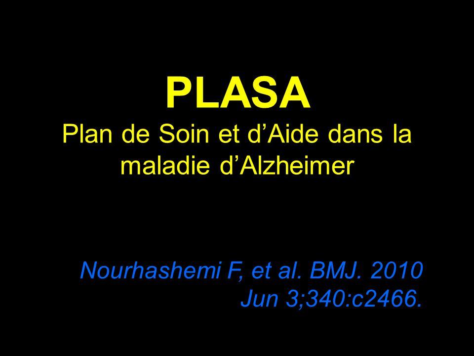 PLASA Plan de Soin et dAide dans la maladie dAlzheimer Nourhashemi F, et al. BMJ. 2010 Jun 3;340:c2466.