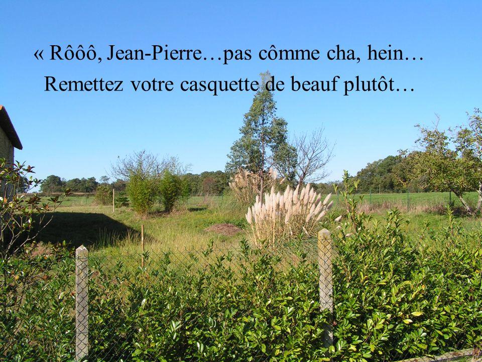 « Rôôô, Jean-Pierre…pas cômme cha, hein… Remettez votre casquette de beauf plutôt…