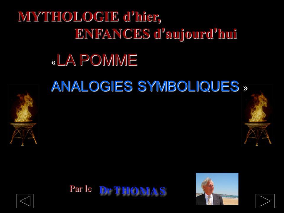 MYTHOLOGIE dhier, ENFANCES daujourdhui Par le LA POMME « LA POMME ANALOGIES SYMBOLIQUES ANALOGIES SYMBOLIQUES »