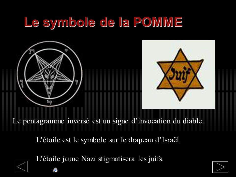 Le symbole de la POMME POMME 1090 en Français vient de POMUM (en Latin) : LE FRUIT dont la FLEUR DU MAL à cinq pétales est associé au PENTAGRAMME de l