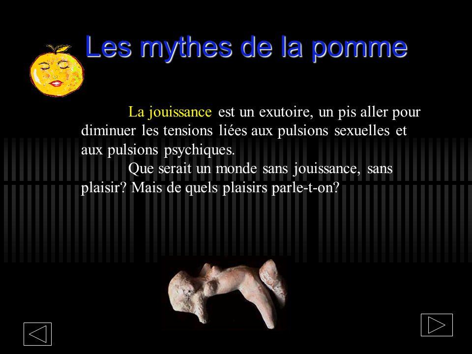 Les mythes de la pomme La jouissance par la domination de lautre se présente comme lunique compensation de sa fragilité identitaire pour se rassurer,