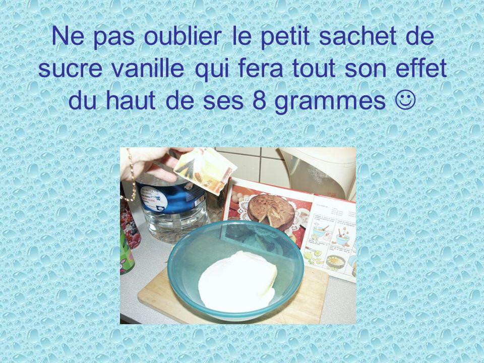 Ne pas oublier le petit sachet de sucre vanille qui fera tout son effet du haut de ses 8 grammes