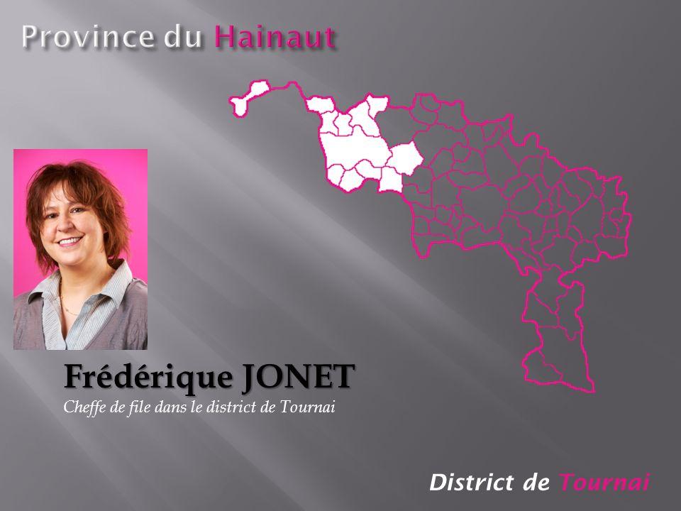 District de Tournai Frédérique JONET Cheffe de file dans le district de Tournai