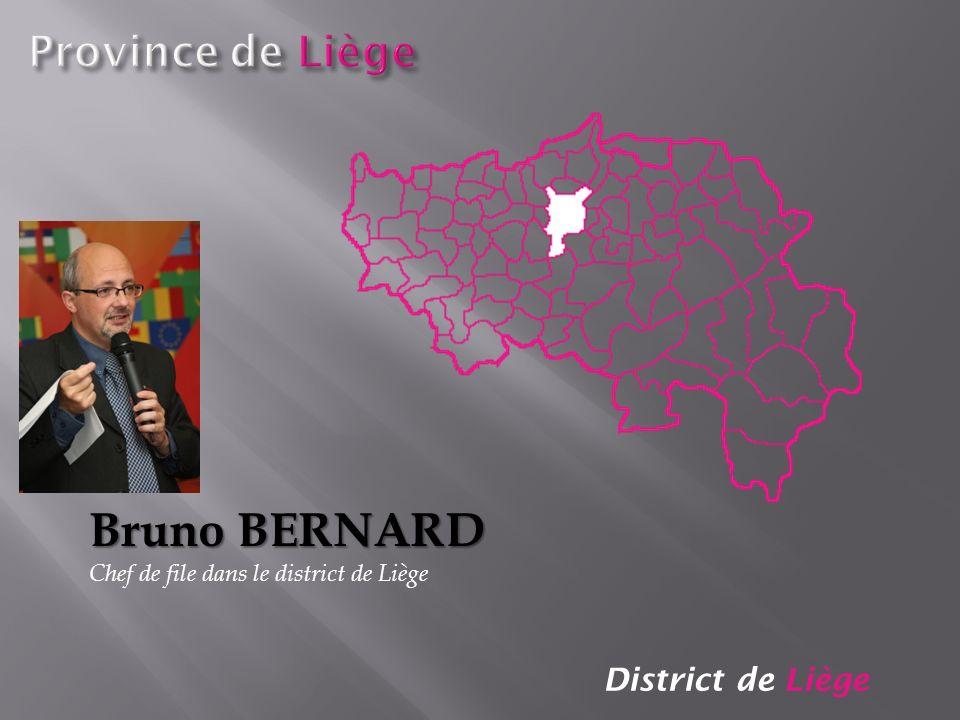 District de Liège Bruno BERNARD Chef de file dans le district de Liège