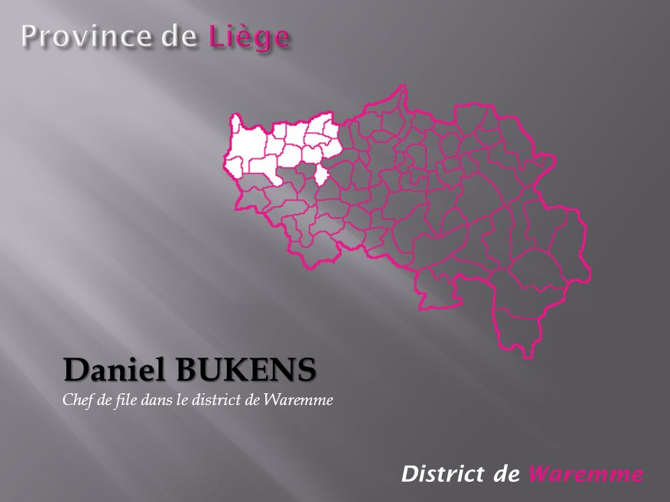 District de Waremme Daniel BUKENS Chef de file dans le district de Waremme