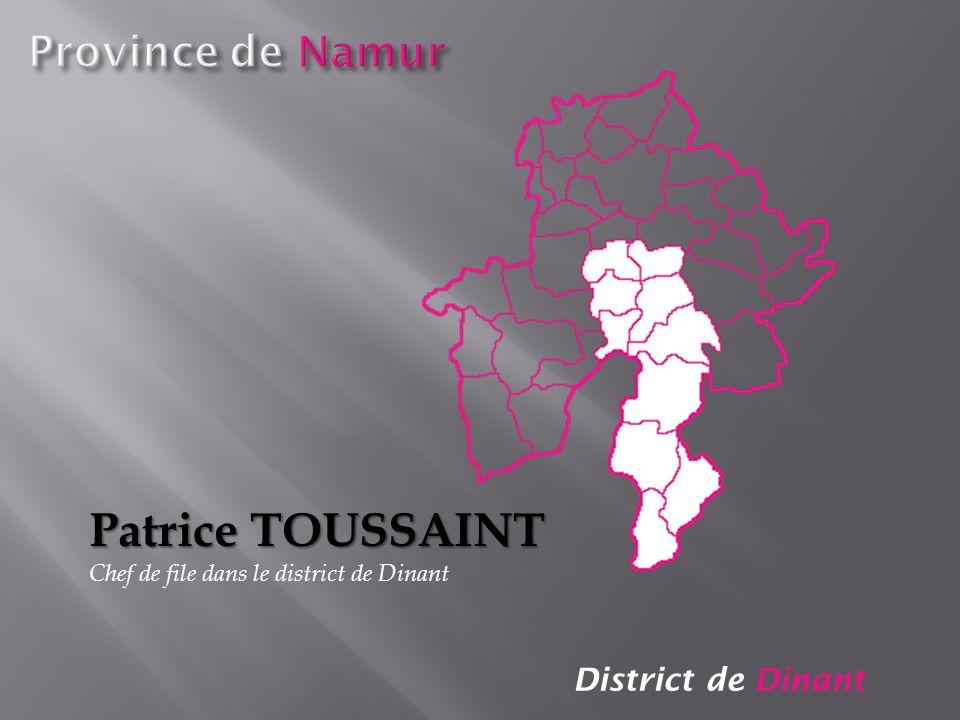 District de Dinant Patrice TOUSSAINT Chef de file dans le district de Dinant
