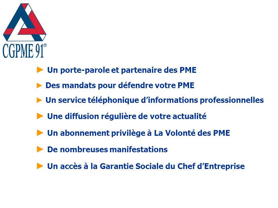 Un porte-parole et partenaire des PME Des mandats pour défendre votre PME Un service téléphonique dinformations professionnelles Une diffusion réguliè