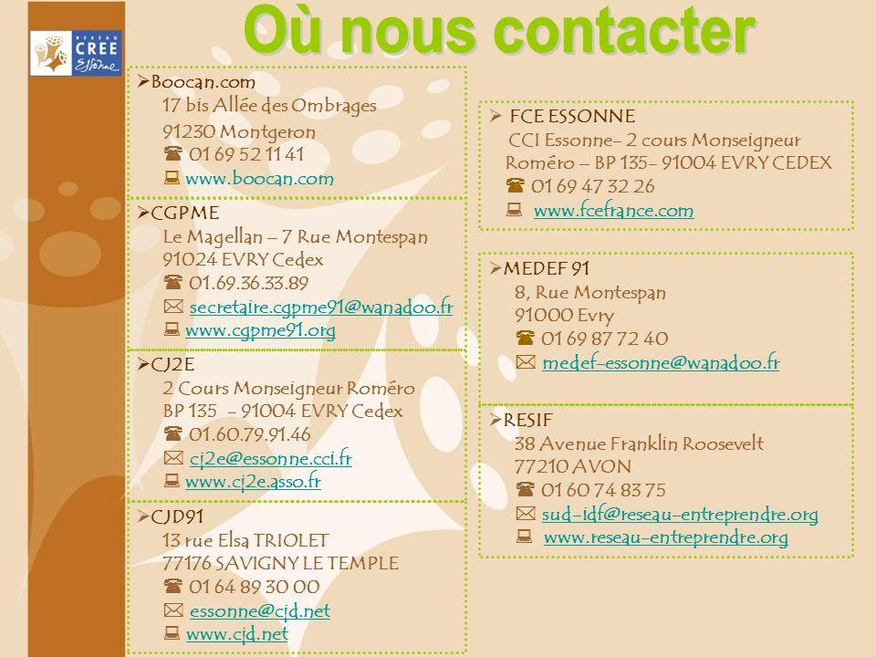 CGPME Le Magellan – 7 Rue Montespan 91024 EVRY Cedex 01.69.36.33.89 secretaire.cgpme91@wanadoo.fr www.cgpme91.org CJD91 13 rue Elsa TRIOLET 77176 SAVI
