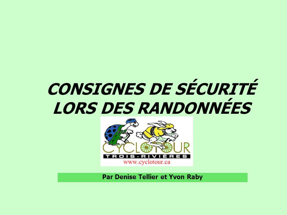PLAN DE PRÉSENTATION Règlements du Club Consignes de sécurité Banque de chef de file et de serre-file Rôles et responsabilités de chacun