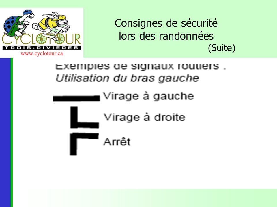Rôle et responsabilités dun serre-file Utiliser le sifflet : -1 coup: diminuer la vitesse de 2 km/h afin que le peloton se regroupe.