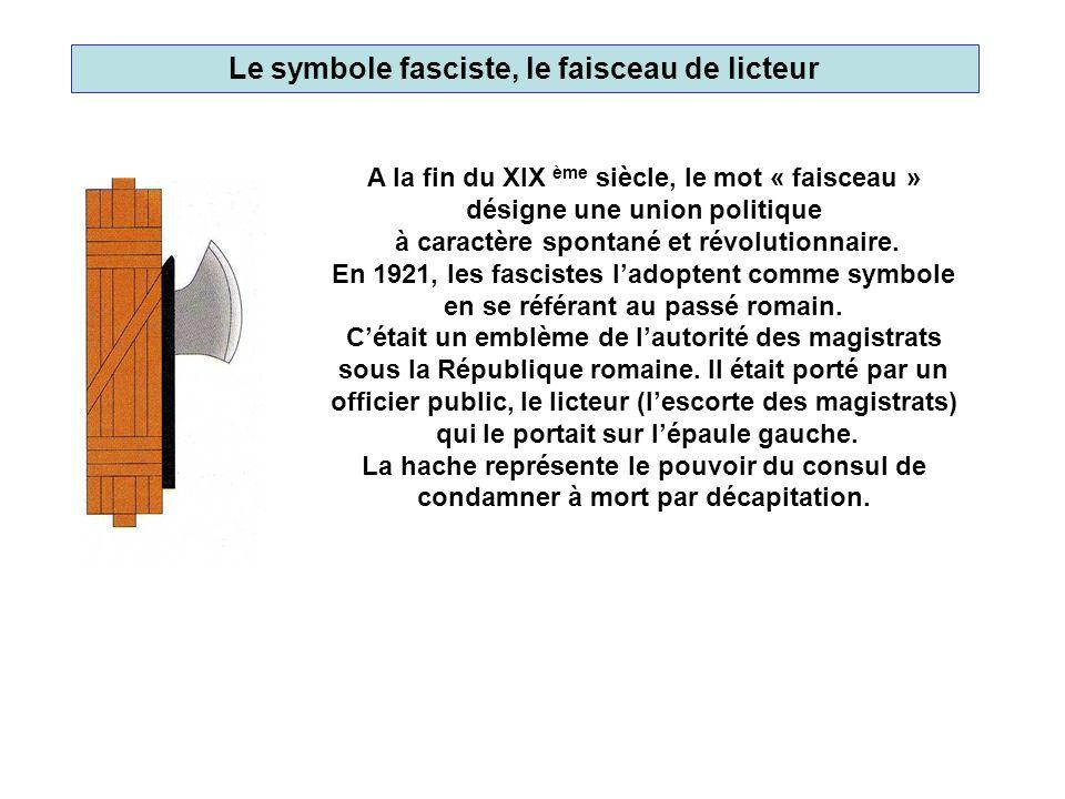 Le symbole nazi, la croix gammée Dessiné par Hitler lui-même, ce drapeau reprit les contours de la swastika, vieux symbole de la culture germanique faisant référence à la nationalité allemande déjà utilisé au XIX ème siècle.