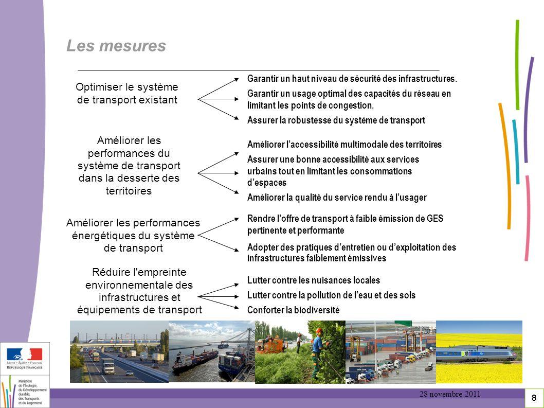 8 Les mesures Garantir un haut niveau de sécurité des infrastructures. Garantir un usage optimal des capacités du réseau en limitant les points de con