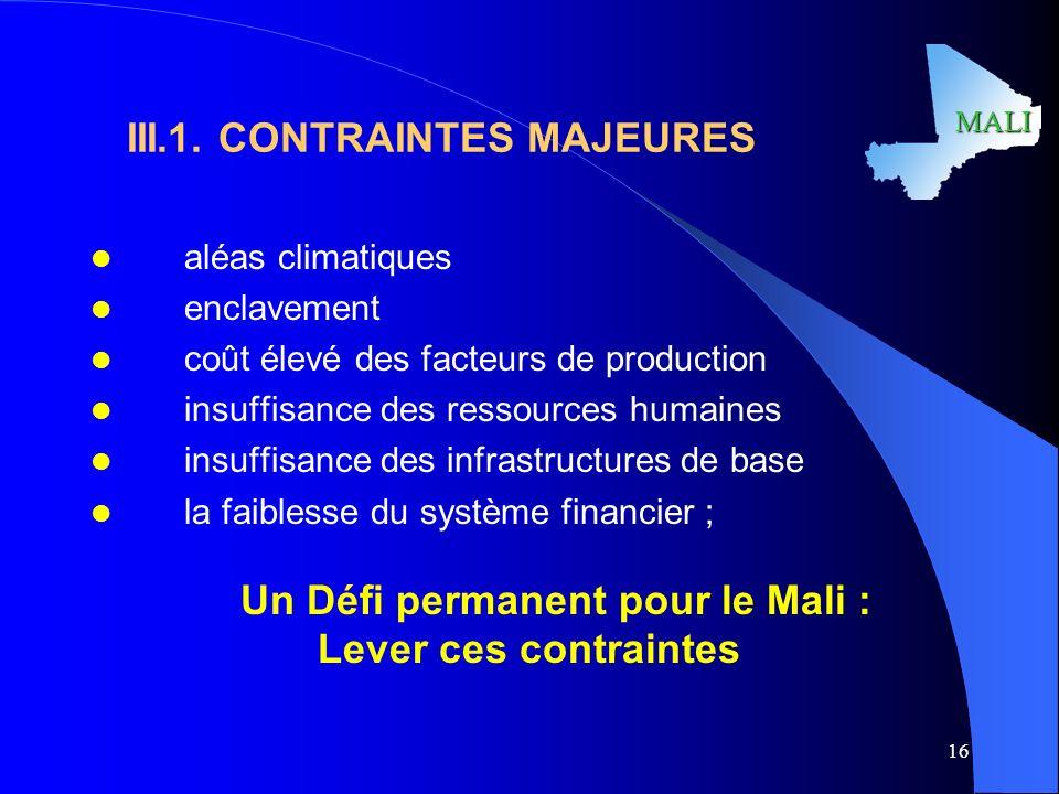 MALI 16 III.1.