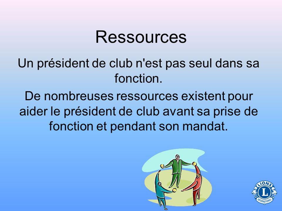 Ressources Un président de club n est pas seul dans sa fonction.