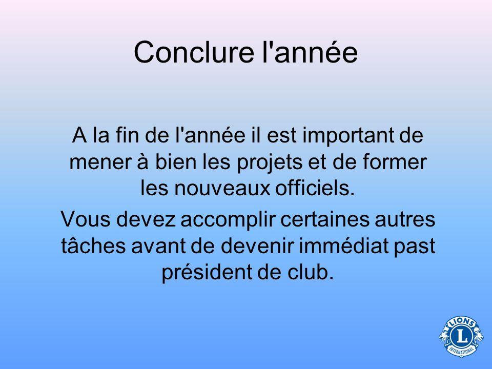 Fonctions présidentielles (concernant la planification) Connaître à fond les imprimés suivants : –Manuel des officiels de clubManuel des officiels de
