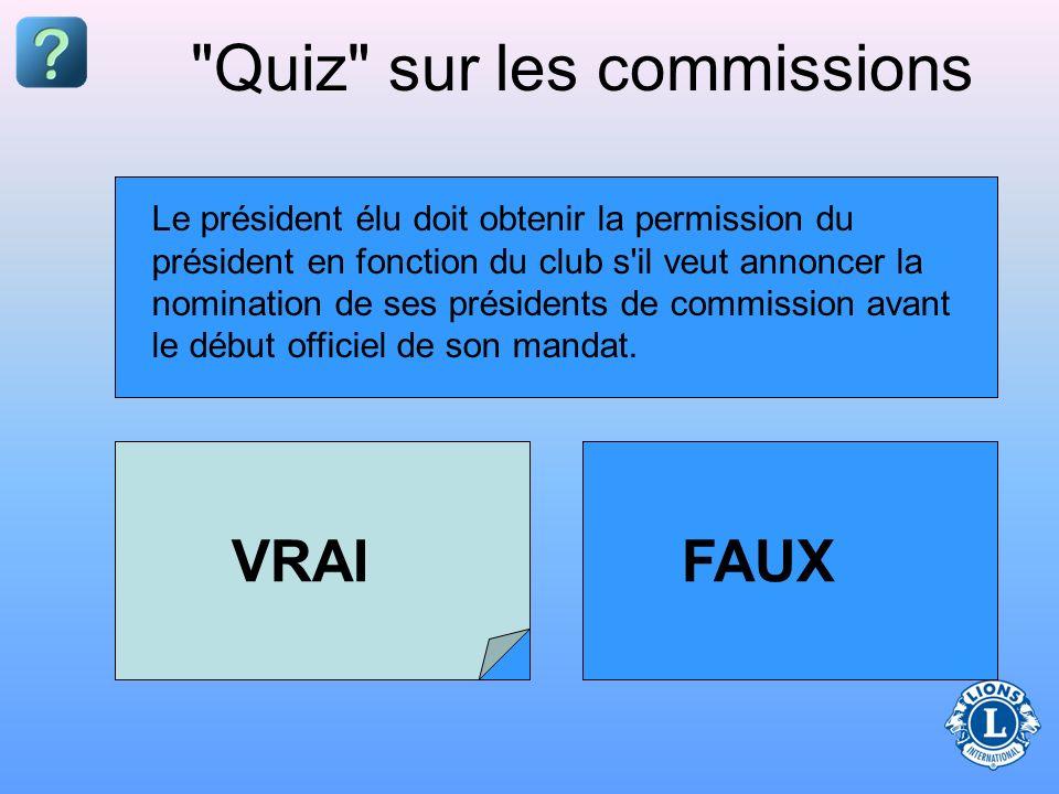 Les nominations des présidents de commission peuvent être annoncées à tout moment avant la prise de fonction officielle du président.