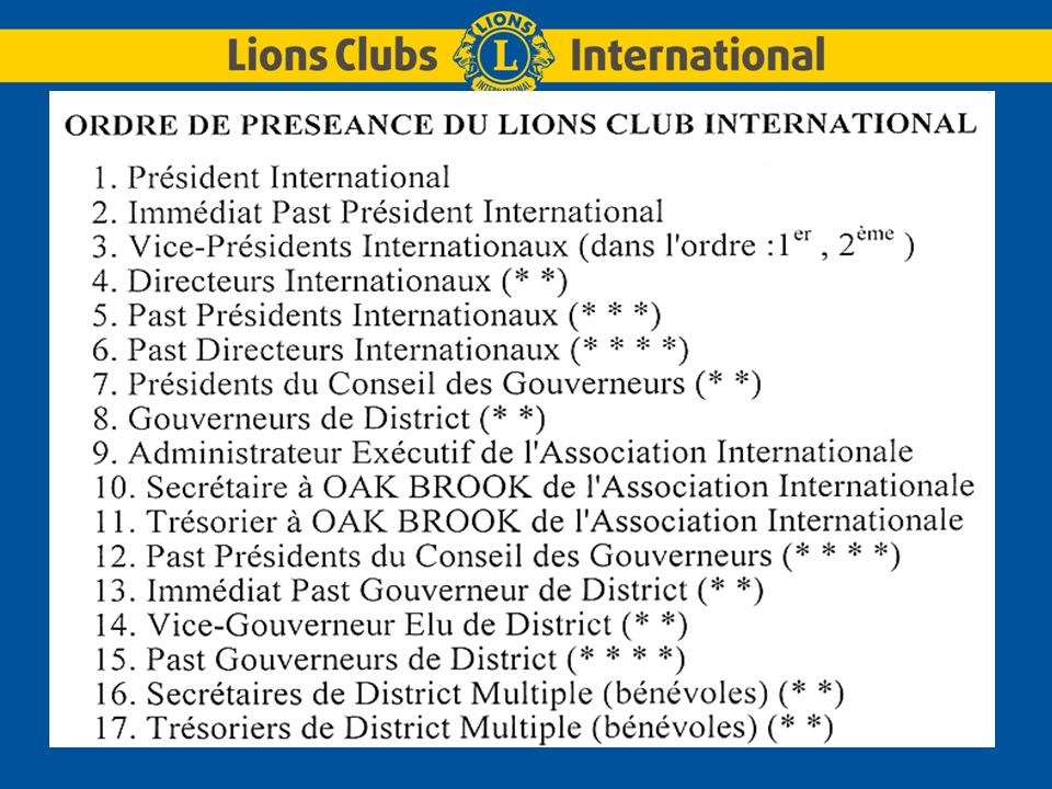 LIONS CLUBS INTERNATIONALDistrict Multiple 103 FRANCE 16