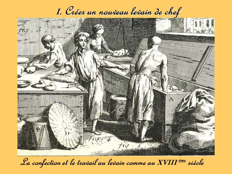 I. Créer un nouveau levain de chef La confection et le travail au levain comme au XVIII ème siècle