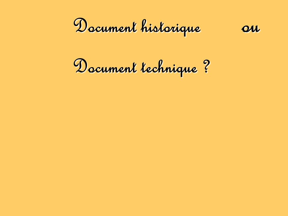 Document technique ?