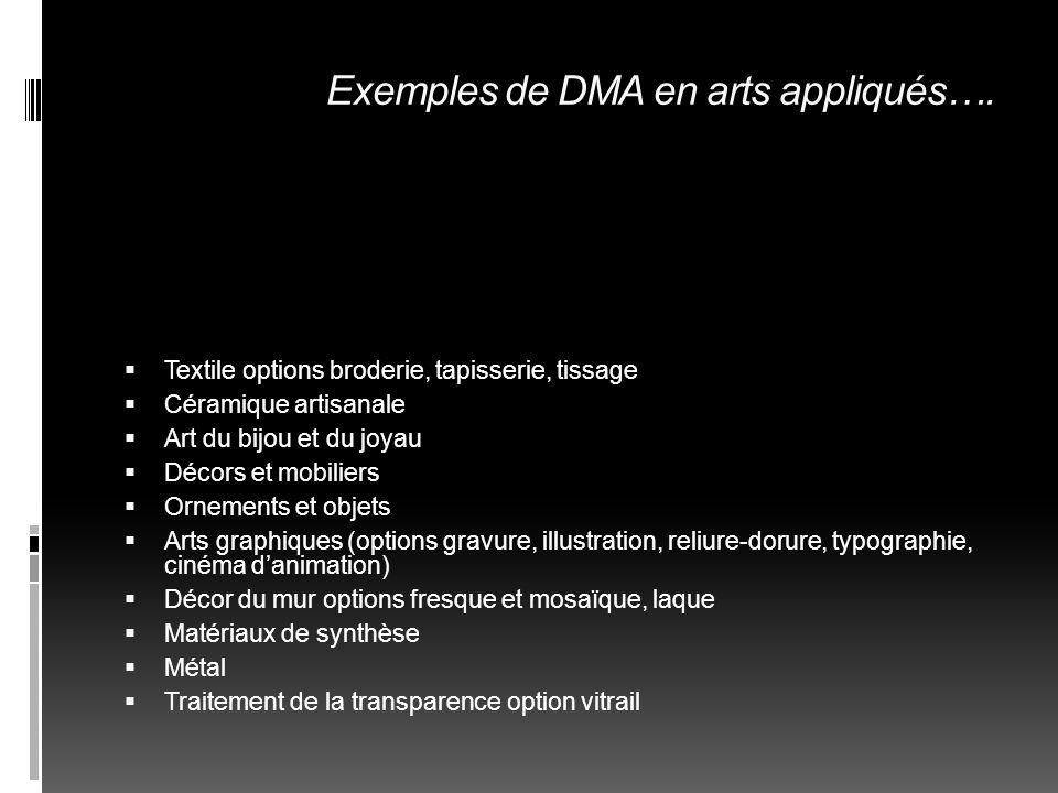 LES DSAA Diplôme supérieur darts appliqués 2 ANS APRES UN BTS ou DMA FORME DES CONCEPTEURS-CREATEURS POSTES DE RESPONSABLES EN BUREAUX DE CREATION OU AGENCES