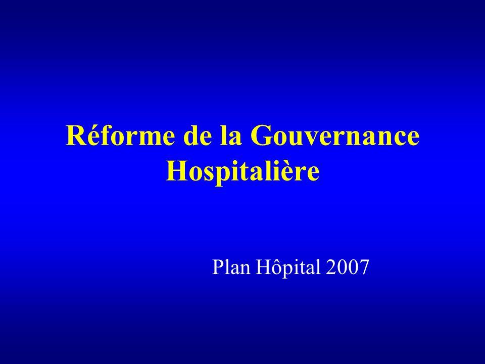 Réforme de la Gouvernance Hospitalière Plan Hôpital 2007