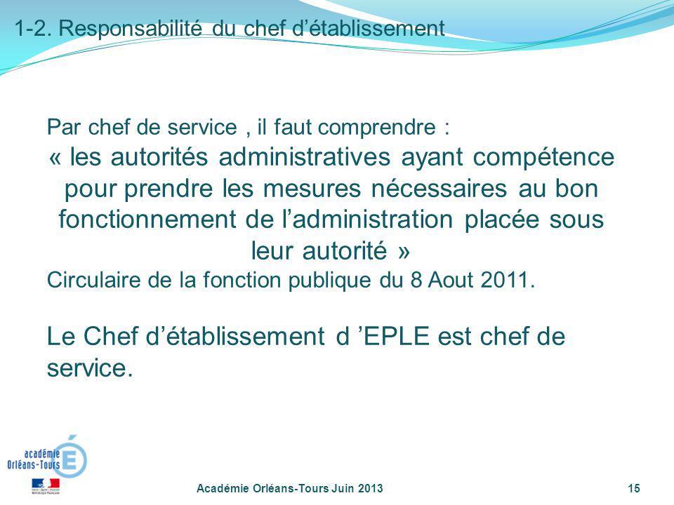 Par chef de service, il faut comprendre : « les autorités administratives ayant compétence pour prendre les mesures nécessaires au bon fonctionnement