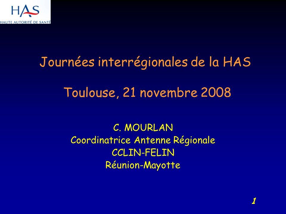 1 Journées interrégionales de la HAS Toulouse, 21 novembre 2008 C.