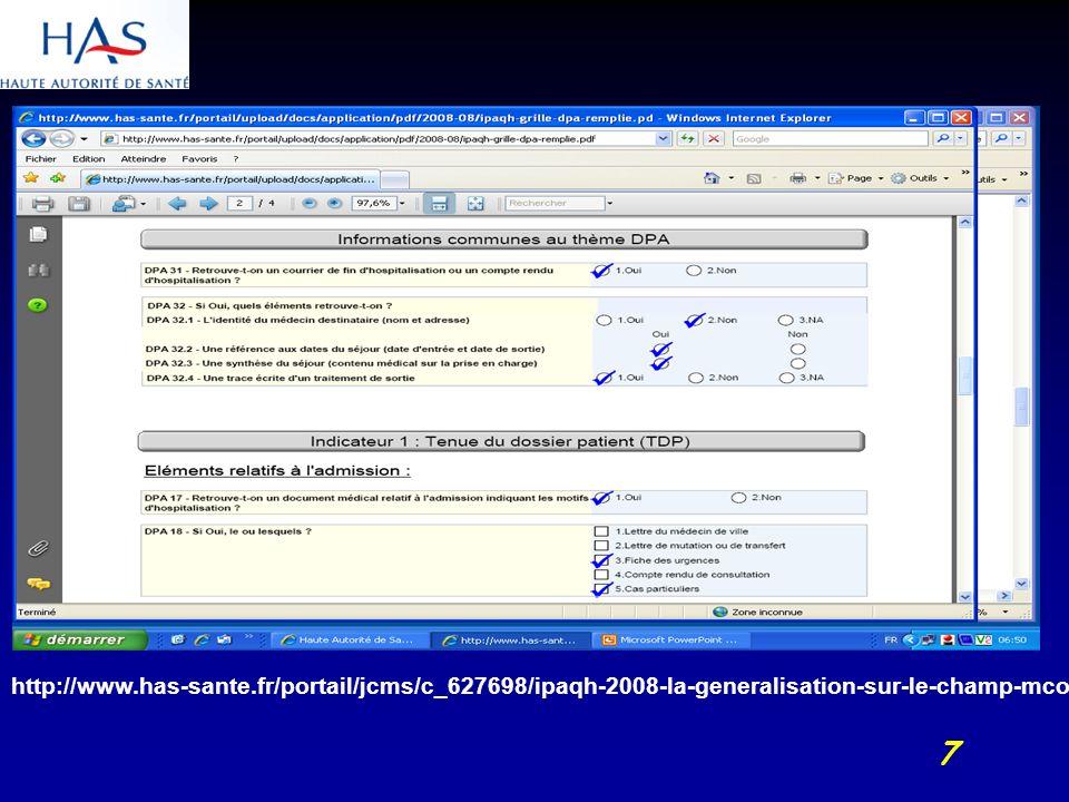 18 La certification V2010 : Pratiques exigibles prioritaires 1.