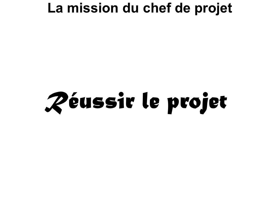 La mission du chef de projet Réussir le projet