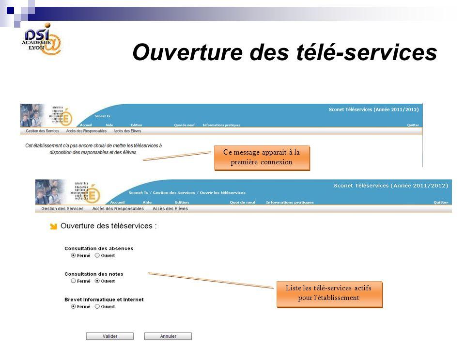 le Chef détablissement active les Télé-Services retenus dans son établissement 2 le Chef détablissement déclare quil souhaite utiliser les Télé-Servic