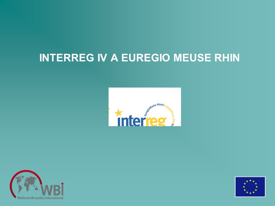 INTERREG IV A EUREGIO MEUSE RHIN