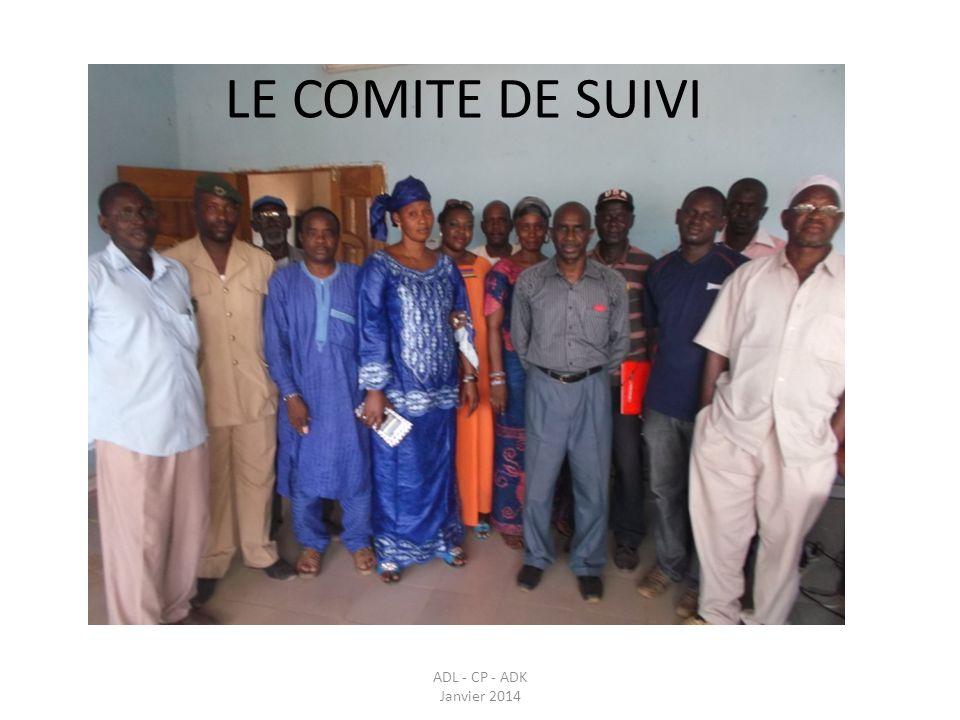LE COMITE DE SUIVI ADL - CP - ADK Janvier 2014
