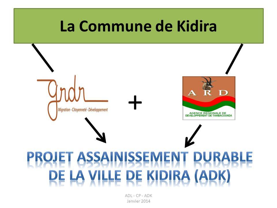 Mise en place du Cadre de Concertation Communal de Kidira Bilan détape du 1 er février 2013 au 25 janvier 2014 ADL - CP - ADK Janvier 2014 Activités réalisées