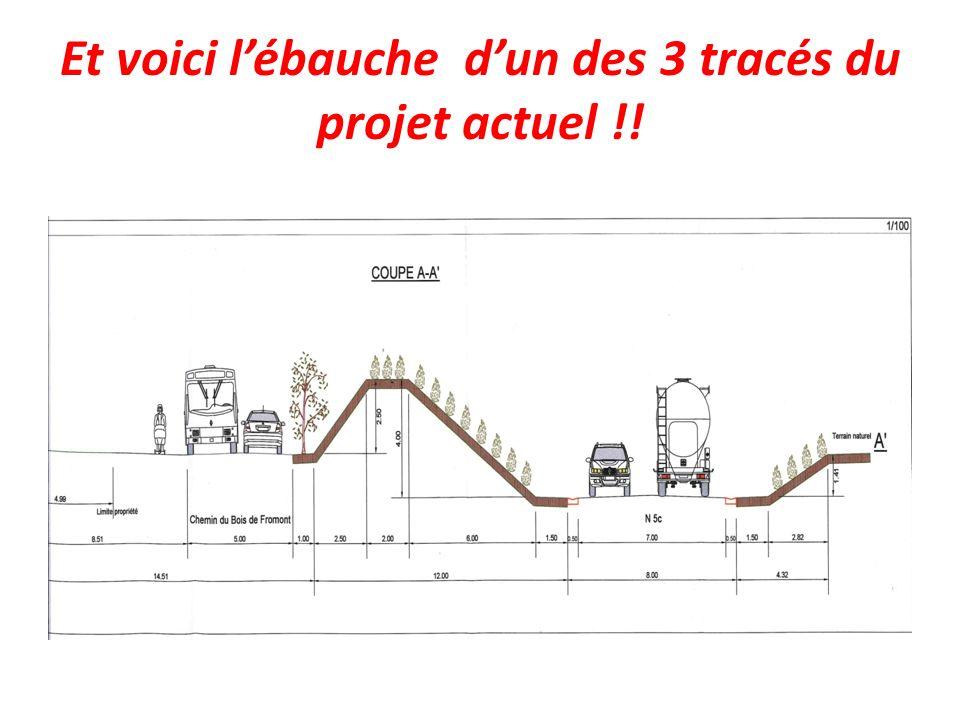 Et voici lébauche dun des 3 tracés du projet actuel !!