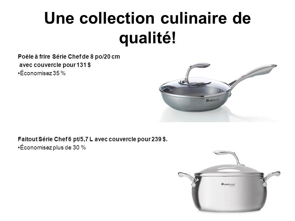 Une collection culinaire de qualité.
