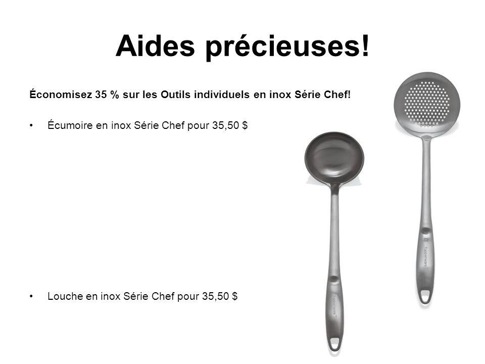 Aides précieuses. Économisez 35 % sur les Outils individuels en inox Série Chef.