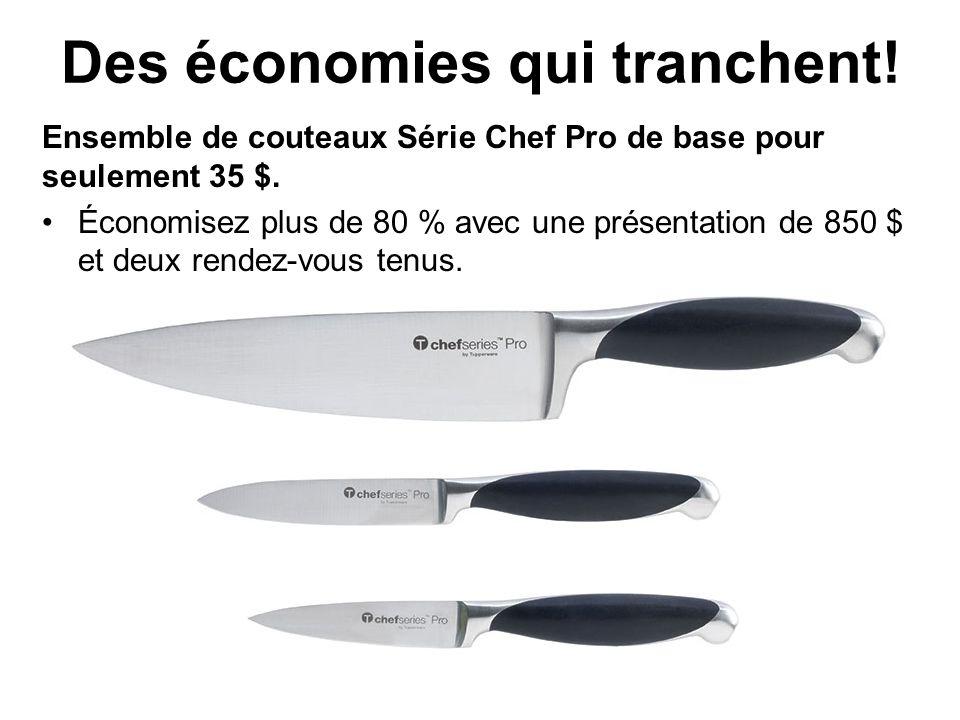 Des économies qui tranchent. Ensemble de couteaux Série Chef Pro de base pour seulement 35 $.