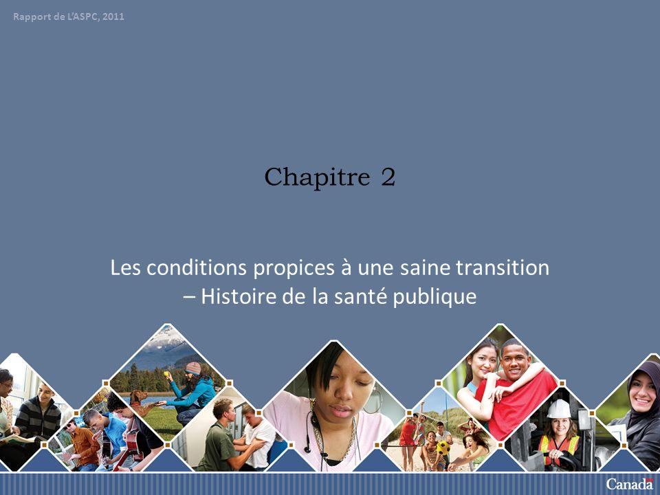 Rapport de lASCP, 2011 9 Santé publique et trajectoire de vie La trajectoire de vie est le parcours suivi par une personne, de la naissance à la mort.