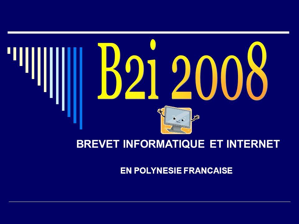 BREVET INFORMATIQUE ET INTERNET EN POLYNESIE FRANCAISE