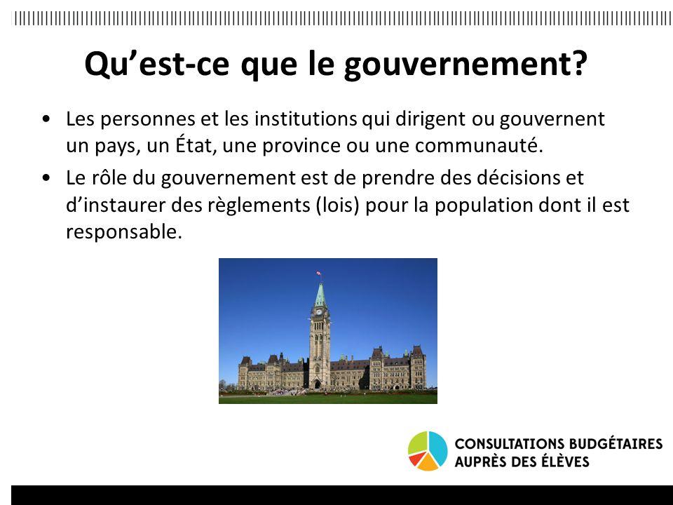 Quest-ce que le gouvernement.