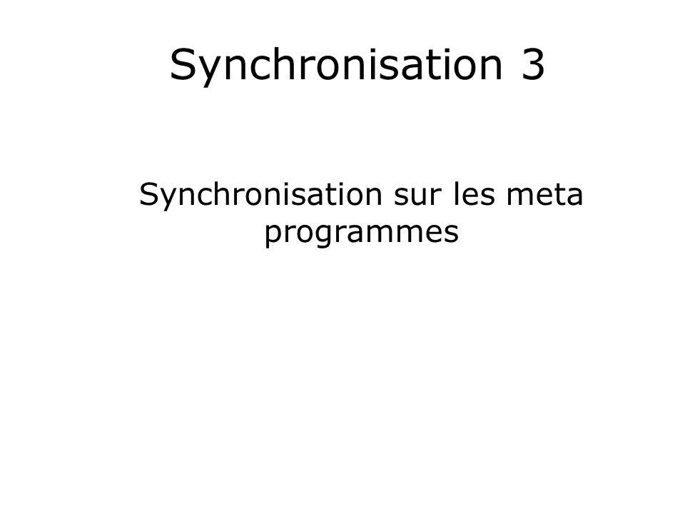 Synchronisation 3 Synchronisation sur les meta programmes