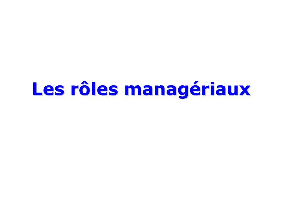 Les rôles managériaux