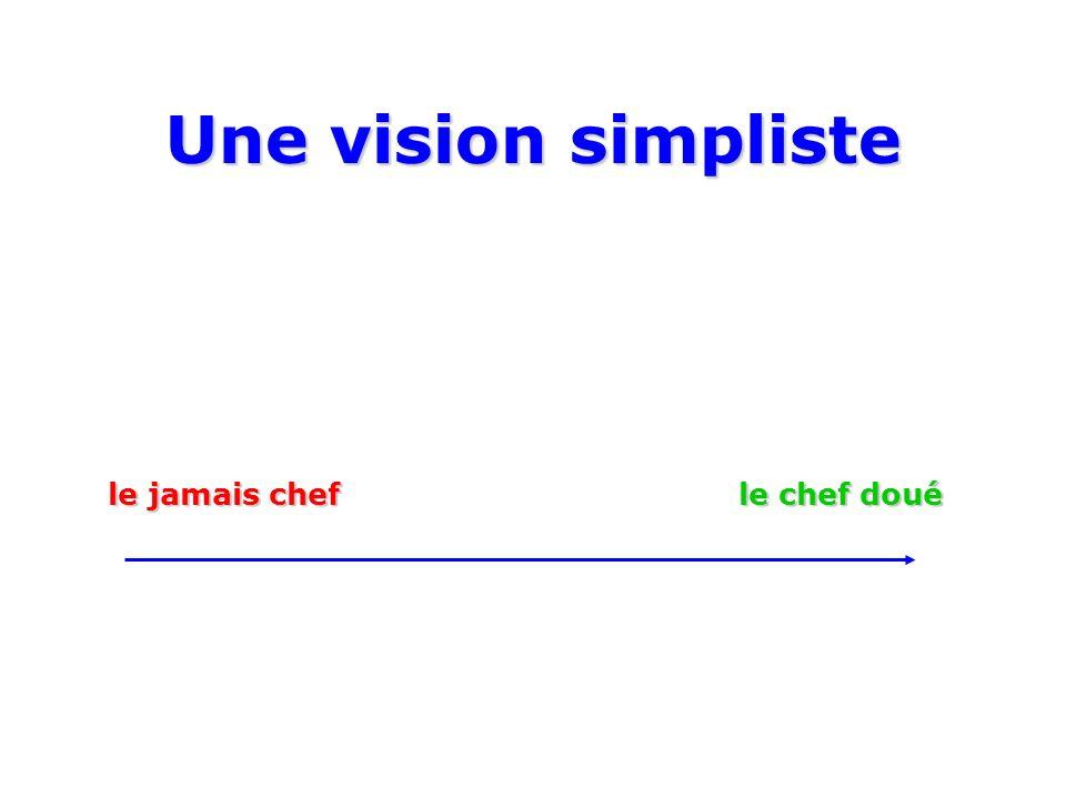 Une vision simpliste le jamais chef le chef doué