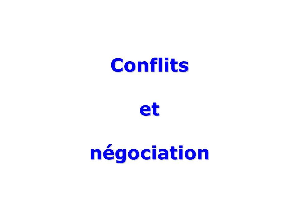 Conflits et négociation