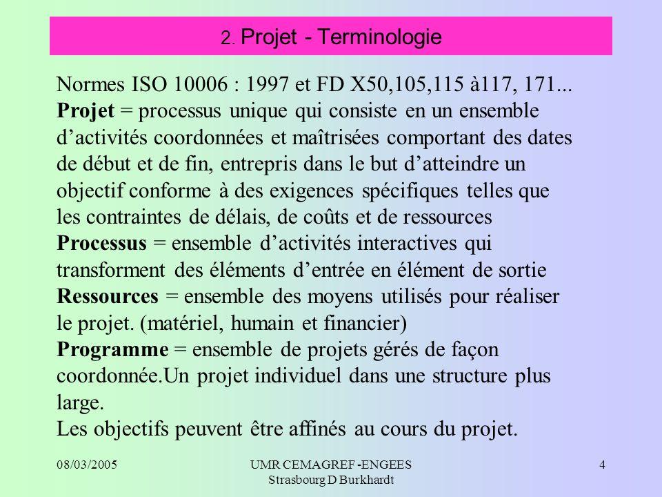 08/03/2005UMR CEMAGREF -ENGEES Strasbourg D Burkhardt 5 2.