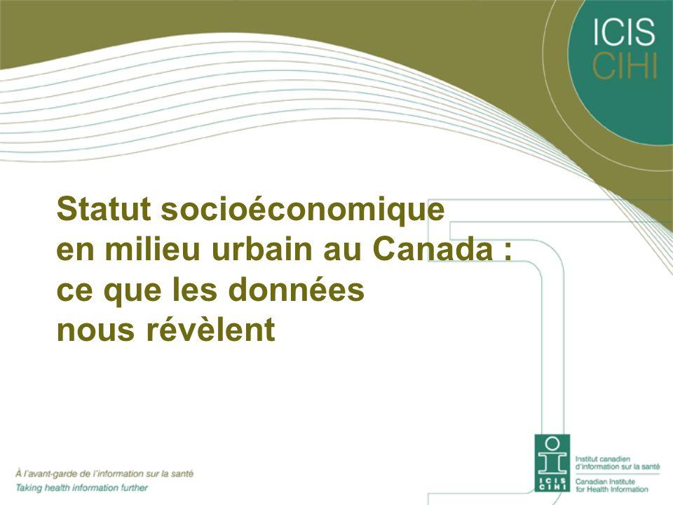 Statut socioéconomique en milieu urbain au Canada : ce que les données nous révèlent