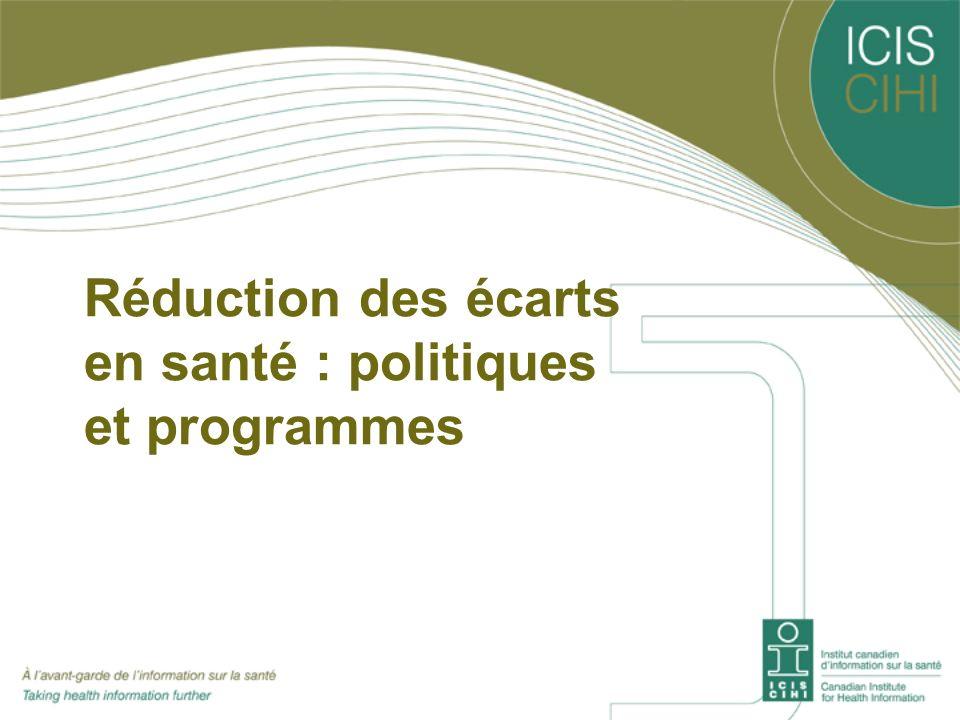 Réduction des écarts en santé : politiques et programmes