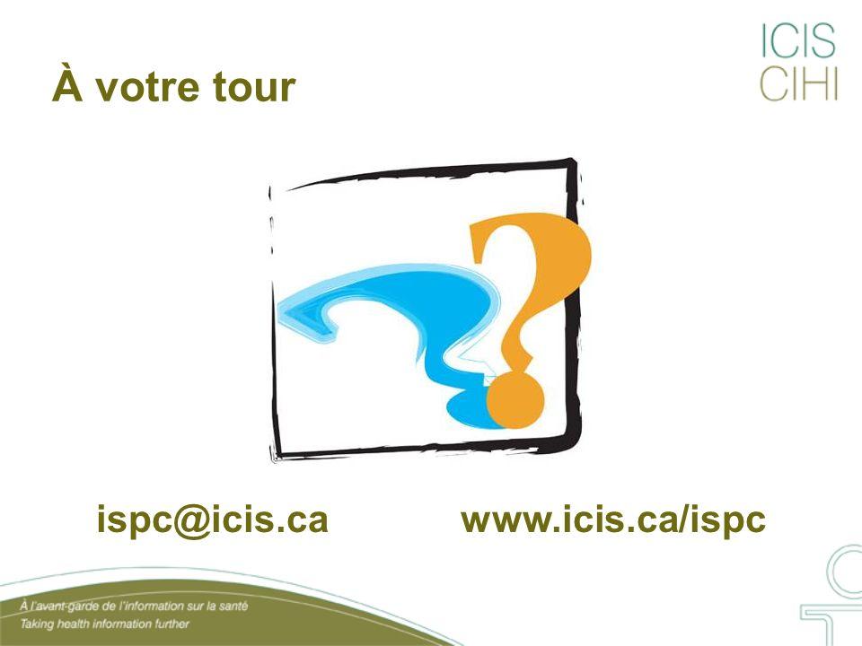 À votre tour ispc@icis.ca www.icis.ca/ispc